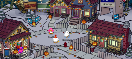Club Penguin Snow Forts - Halloween