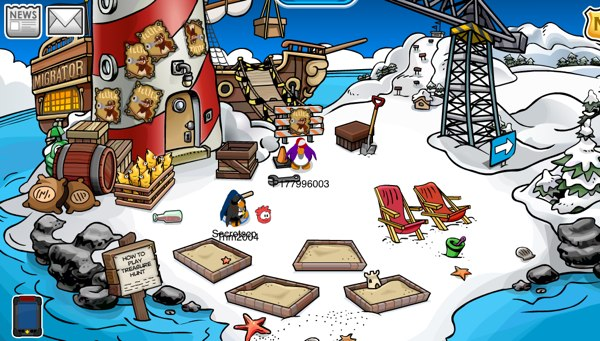 Migrator Construction on Beach
