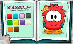 Club Penguin Puffle Costumes Catalog
