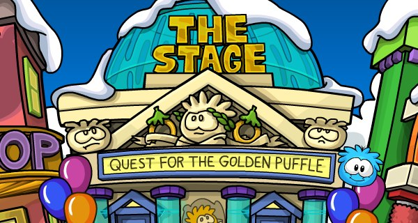 Golden Puffle at the Stage