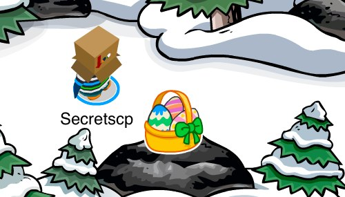 Club Penguin Easter Basket Pin in Forest